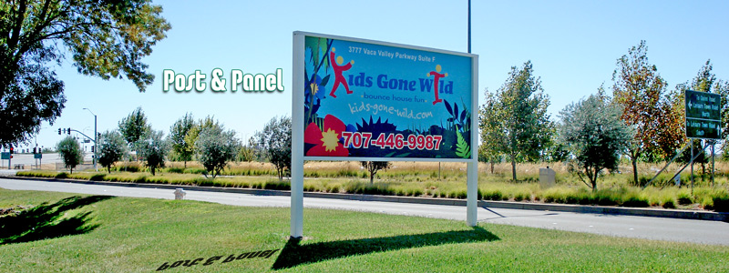 4ft x 8ft Full Digital Post & Panel Sign