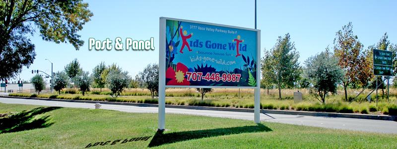 4ft x 8ft Full Digital Post & Panel Sign
