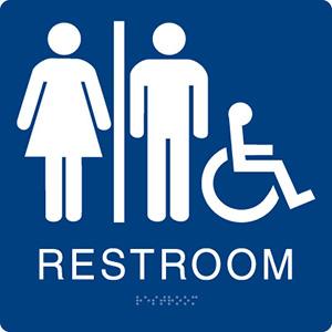 8 x 8 unisex latch side restroom ada sign sign anatomy rh signanatomy com restroom logo game family restroom logo