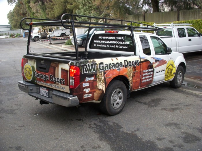 Rw Garage Doors Partial Vehicle Wrap Sign Anatomy