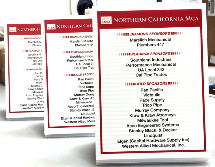 Event Sponsor Table Toppers Sign Anatomy
